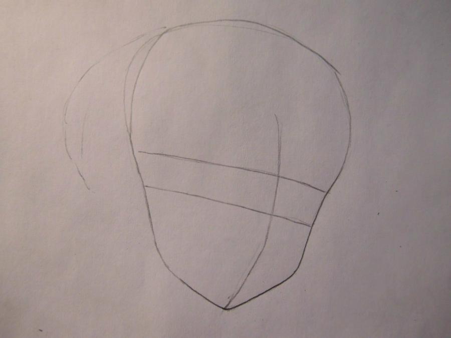 Рисуем портрет Сакуры - шаг 1