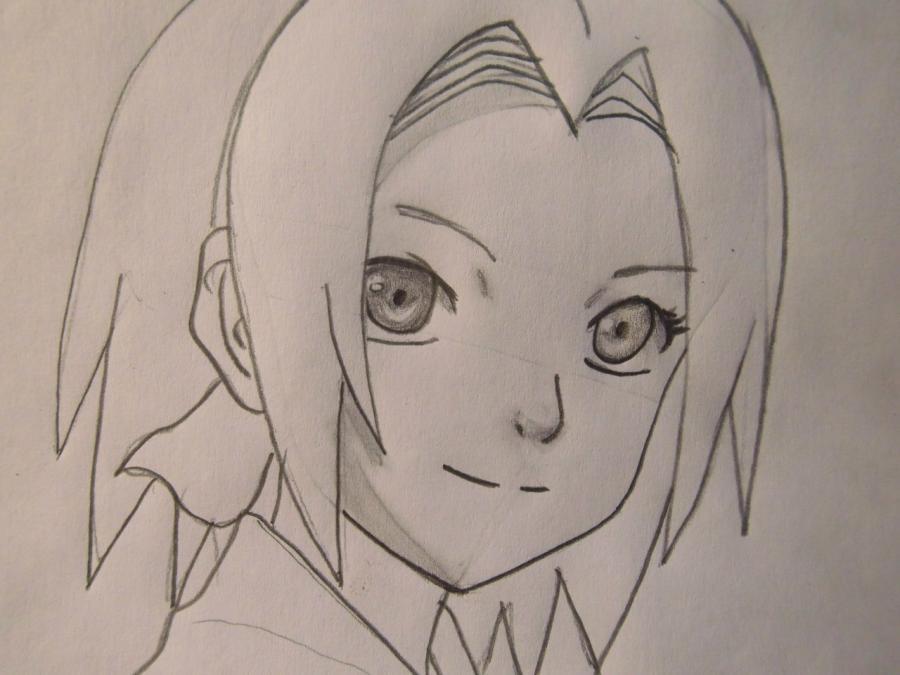 Рисуем портрет Сакуры - шаг 5