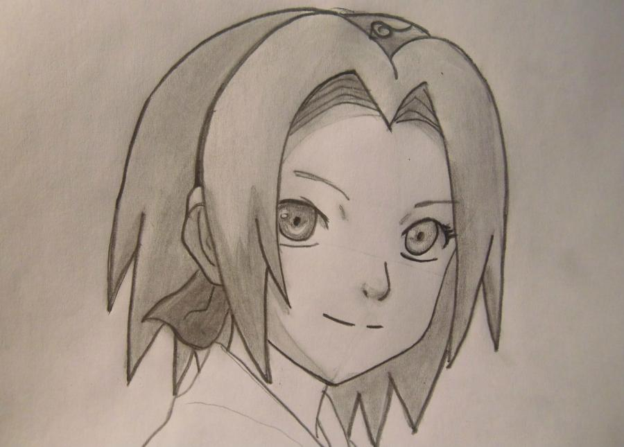 Рисуем портрет Сакуры - шаг 6