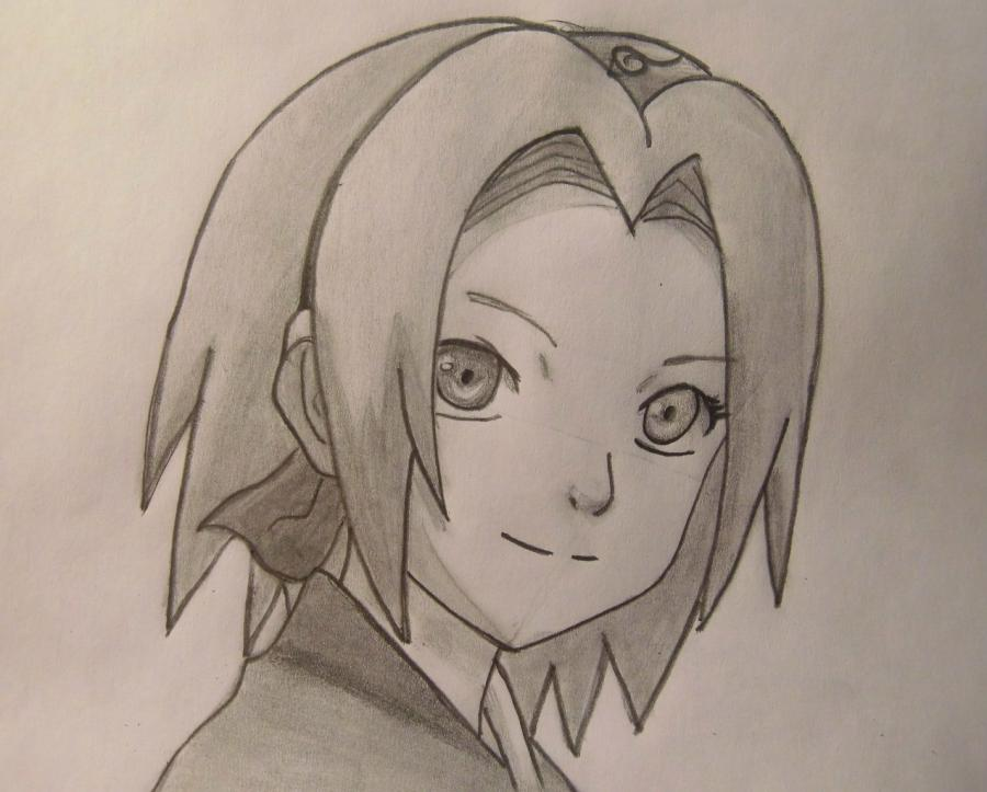 Рисуем портрет Сакуры - шаг 7