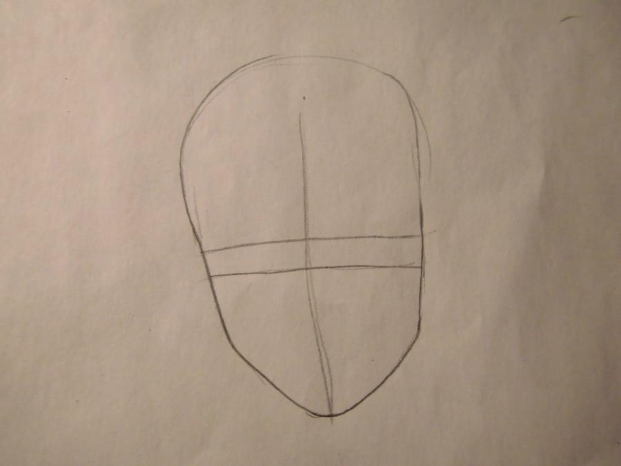 Рисуем портрет Саске Учиха - шаг 1