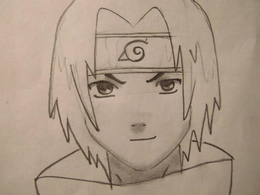 Рисуем портрет Саске Учиха - шаг 5