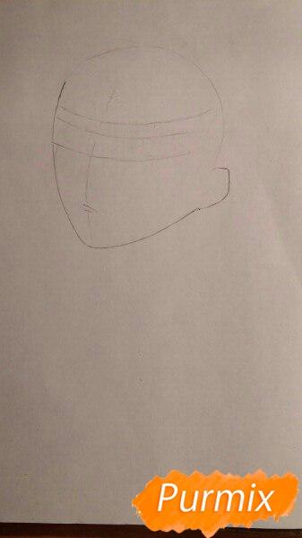 Рисуем портрет Ято из аниме Бездомный Бог карандашами - шаг 1