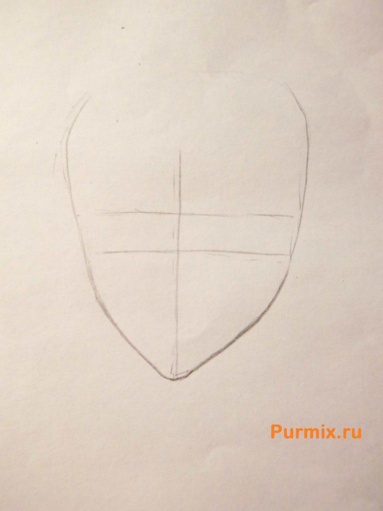 Рисуем Райто Сакамаки из аниме Дьявольские возлюбленные - шаг 1