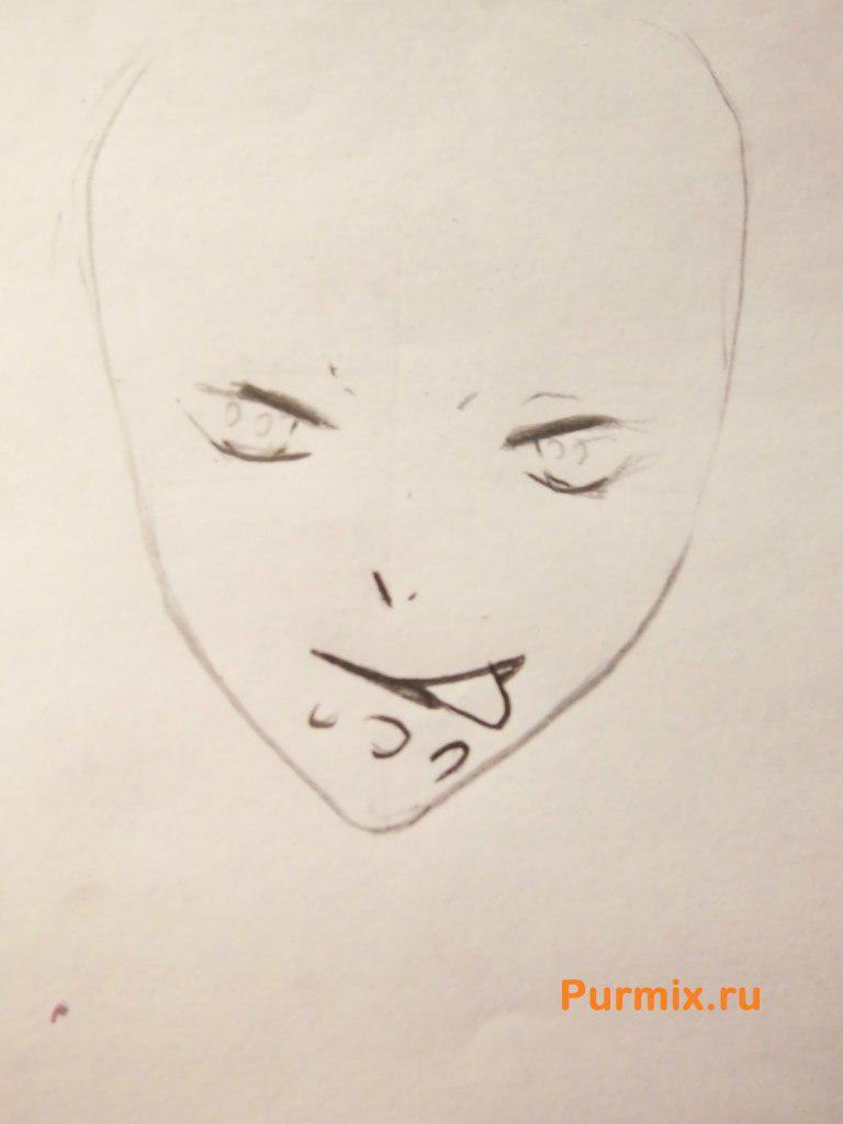 Рисуем Райто Сакамаки из аниме Дьявольские возлюбленные - шаг 2