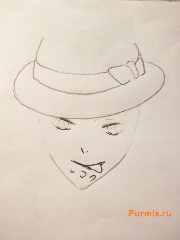 Рисуем Райто Сакамаки из аниме Дьявольские возлюбленные - шаг 3