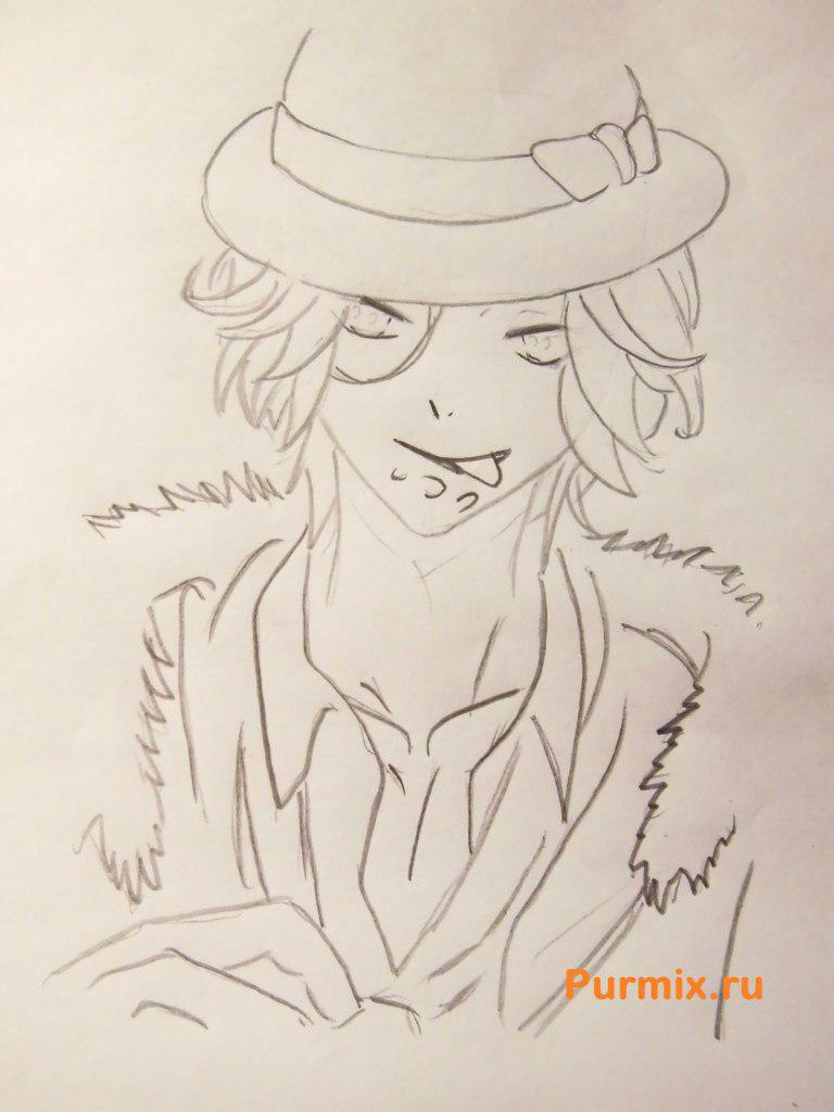 Рисуем Райто Сакамаки из аниме Дьявольские возлюбленные - шаг 5