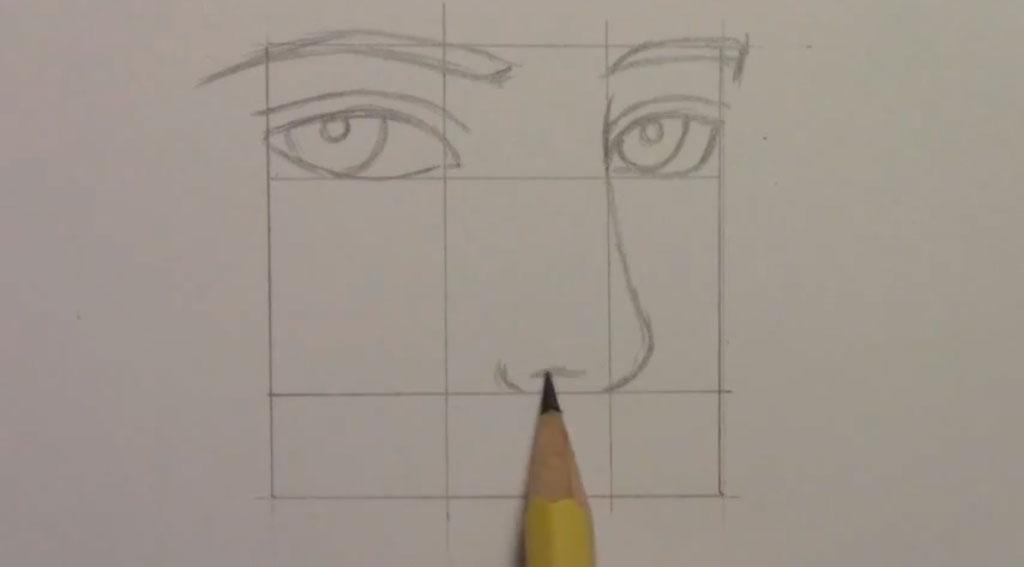 Рисуем манга парня - шаг 3