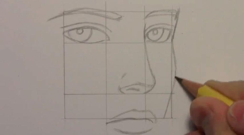 Рисуем манга парня - шаг 4