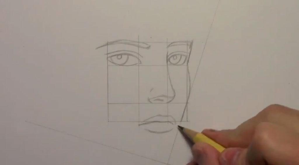 Рисуем манга парня - шаг 5