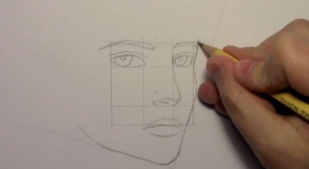 Рисуем манга парня - шаг 6