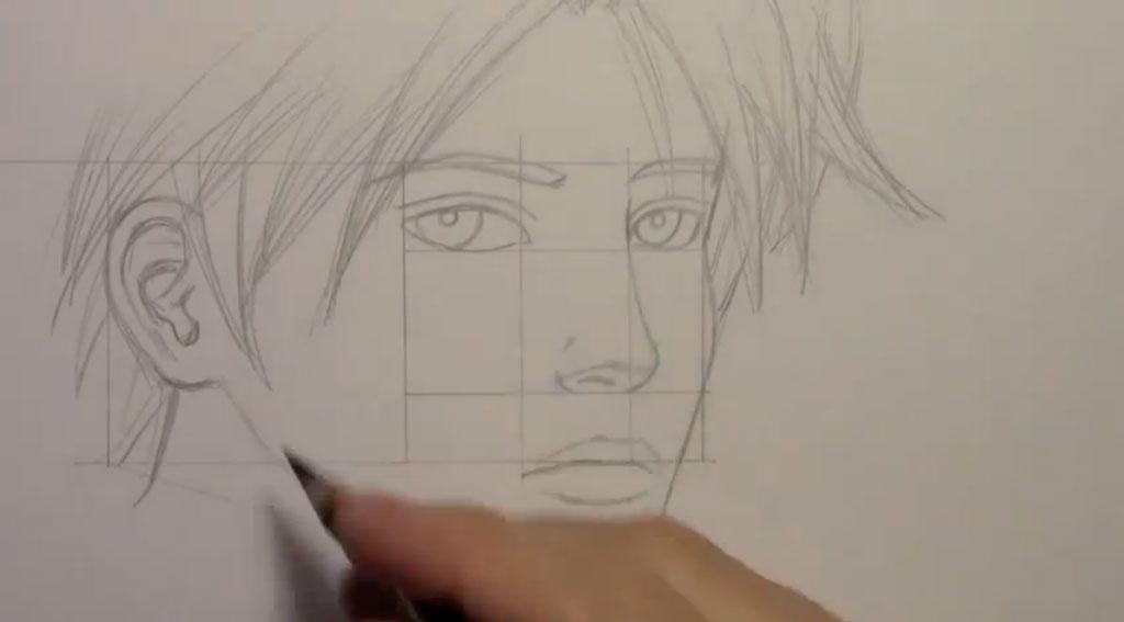 Рисуем манга парня - шаг 8