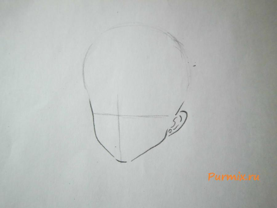 Рисуем расстроенную Рэй Хино - шаг 1