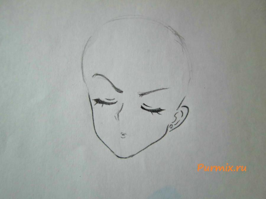 Рисуем расстроенную Рэй Хино - шаг 2