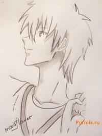 Фото Рю Цудзи из аниме Спецкласс «А» простым карандашом
