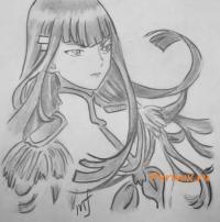 Фото Сацуки Кирюин из аниме Убей или умри карандашом