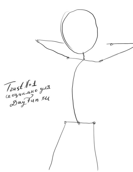 Рисуем Сакура Харуно из Наруто - шаг 1