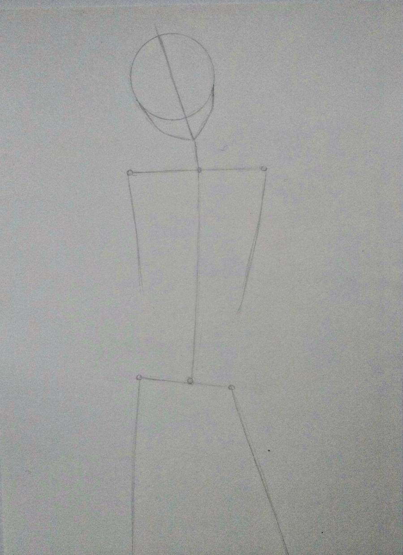 Рисуем Сашу Брауз из Атаки титанов цветными карандашами - шаг 1