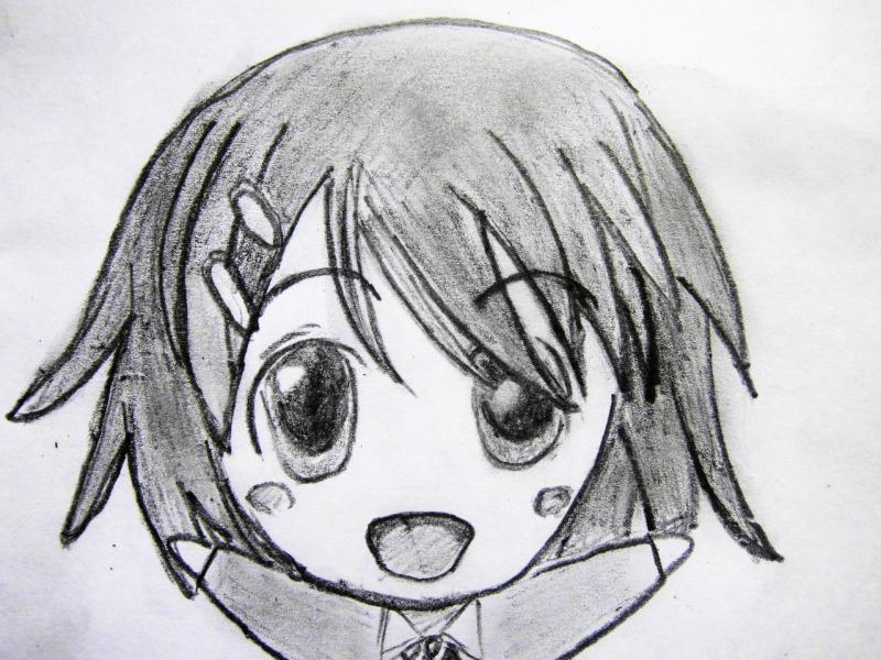 Рисуем счастливую чиби девушку