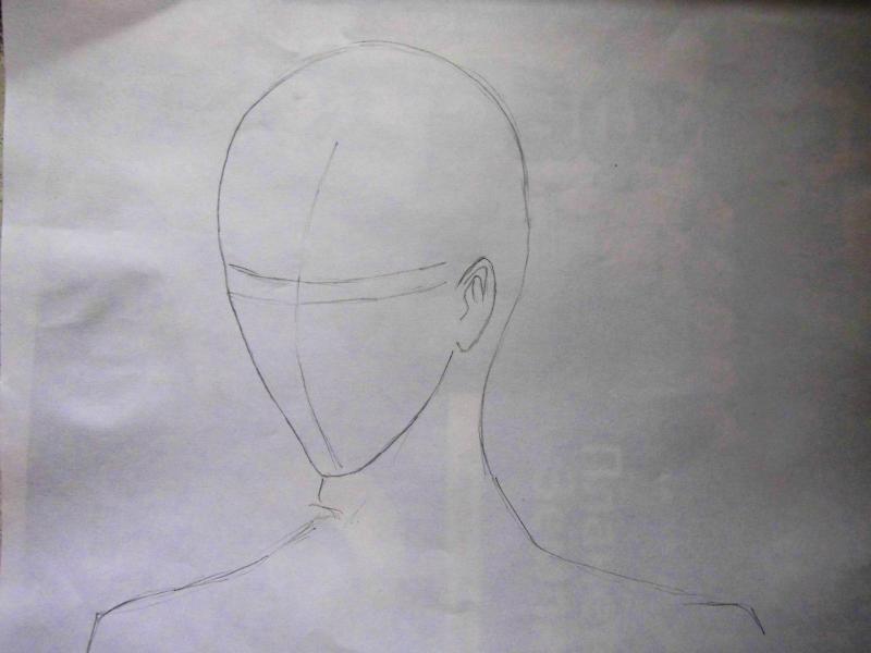 Рисуем портрет Себастьяна - шаг 1