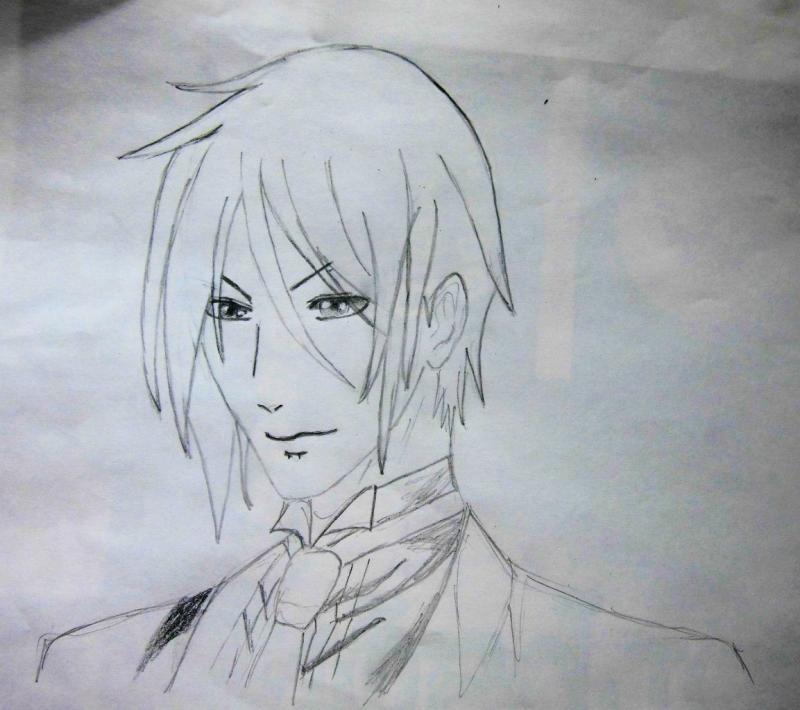 Рисуем портрет Себастьяна - шаг 5