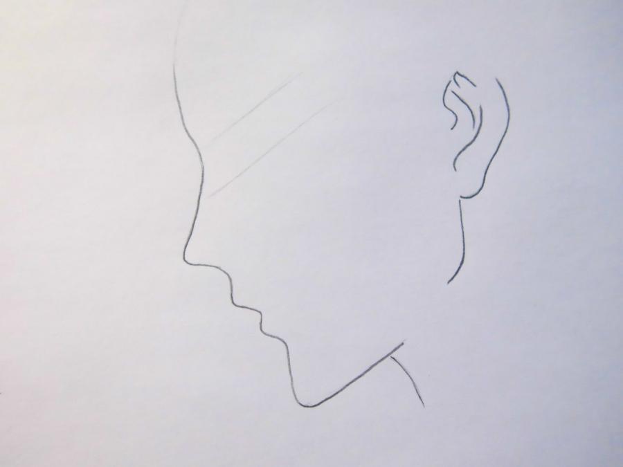 Рисуем Себастьяна Михаэлиса из аниме Тёмный дворецкий - шаг 1