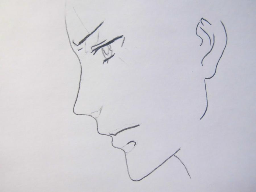 Рисуем Себастьяна Михаэлиса из аниме Тёмный дворецкий - шаг 2
