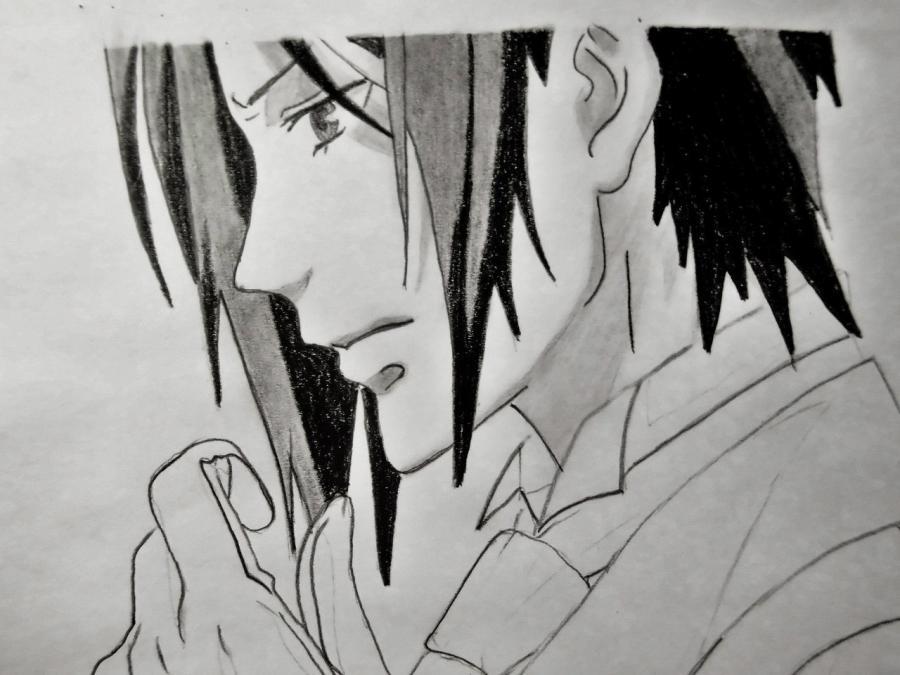 Рисуем Себастьяна Михаэлиса из аниме Тёмный дворецкий - шаг 6