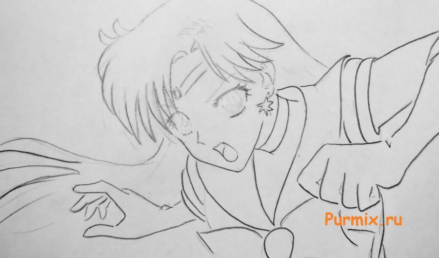 Рисуем Сейлор Марс из Sailor Moon Crystal - шаг 4