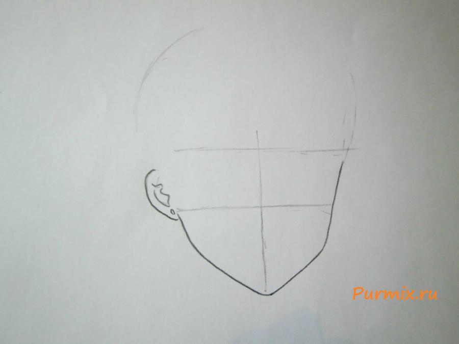 Рисуем портрет Сейлор Венеру - шаг 1