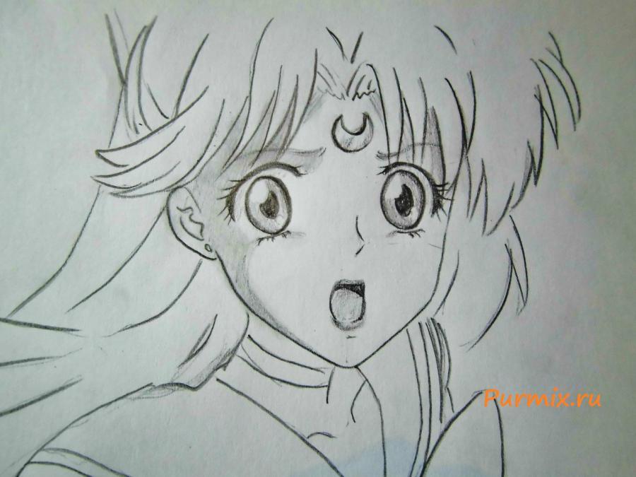 Рисуем портрет Сейлор Венеру - шаг 5