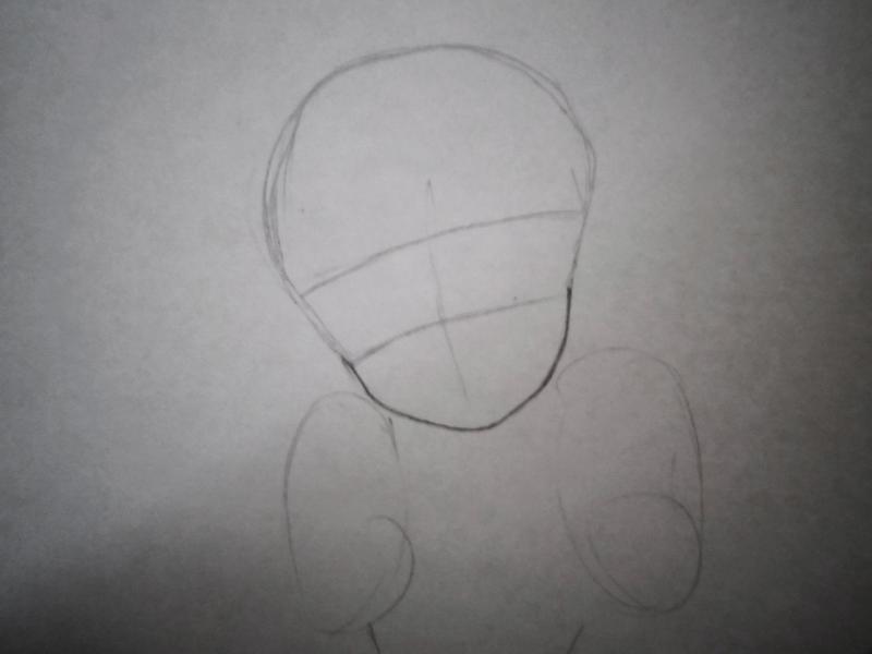 Рисуем Сейлор Венеру карандашами - шаг 1