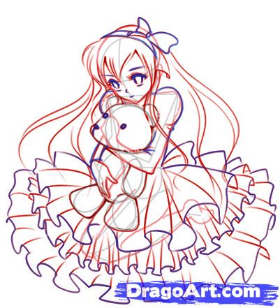 Рисуем смазливую аниме девушку