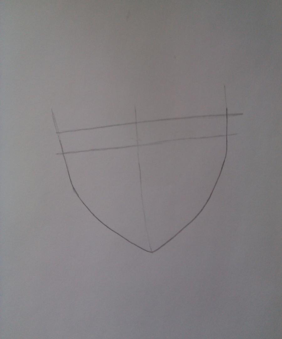 Рисуем Соши Микецуками из аниме Пес,я и секретная служба карандашами - шаг 1