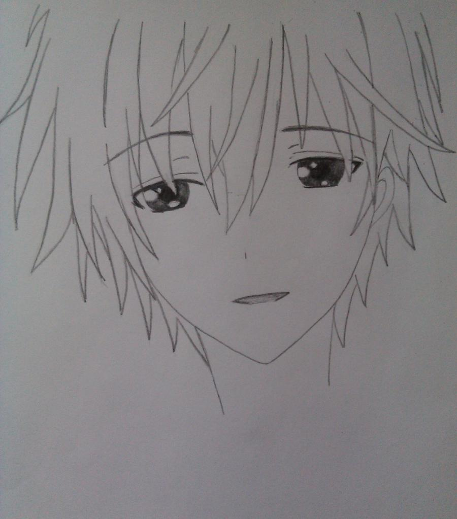 Рисуем Соши Микецуками из аниме Пес,я и секретная служба карандашами - шаг 4