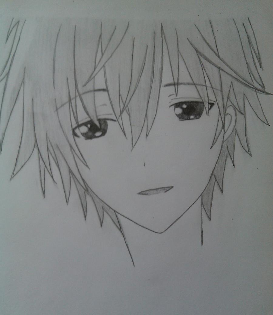 Рисуем Соши Микецуками из аниме Пес,я и секретная служба карандашами - шаг 5