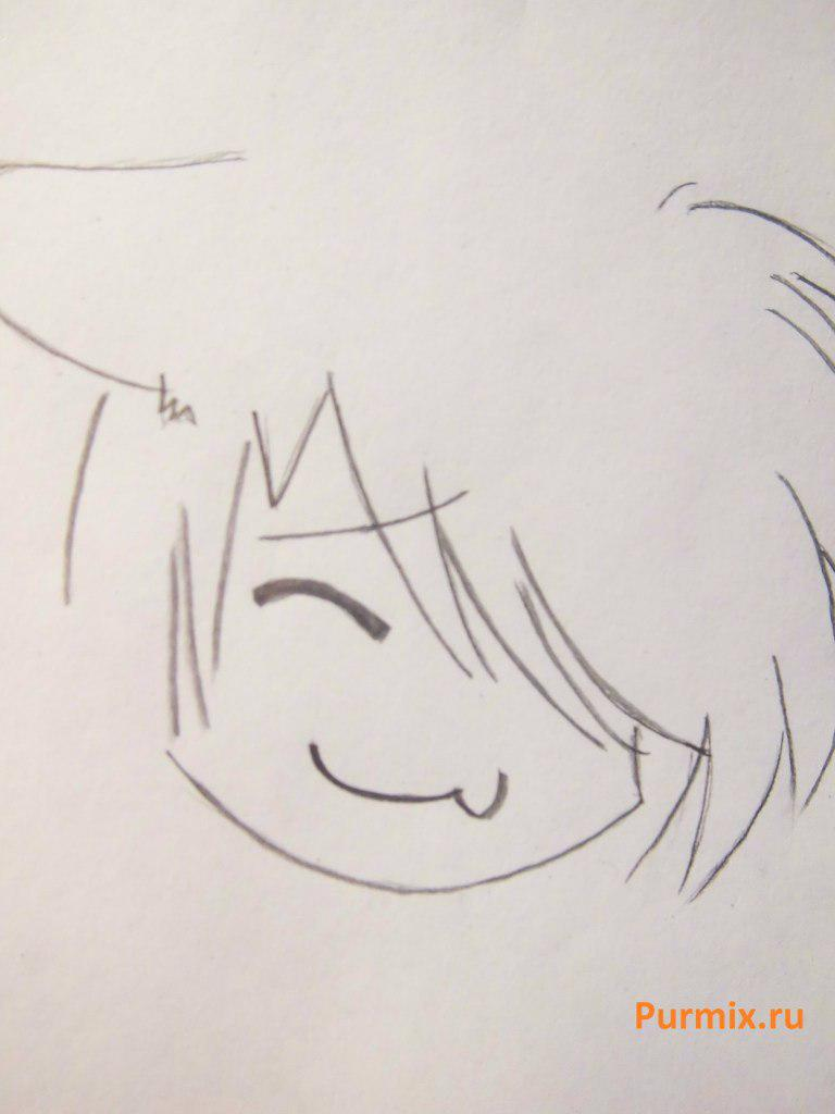 Рисуем стесняшку неко простым - шаг 11