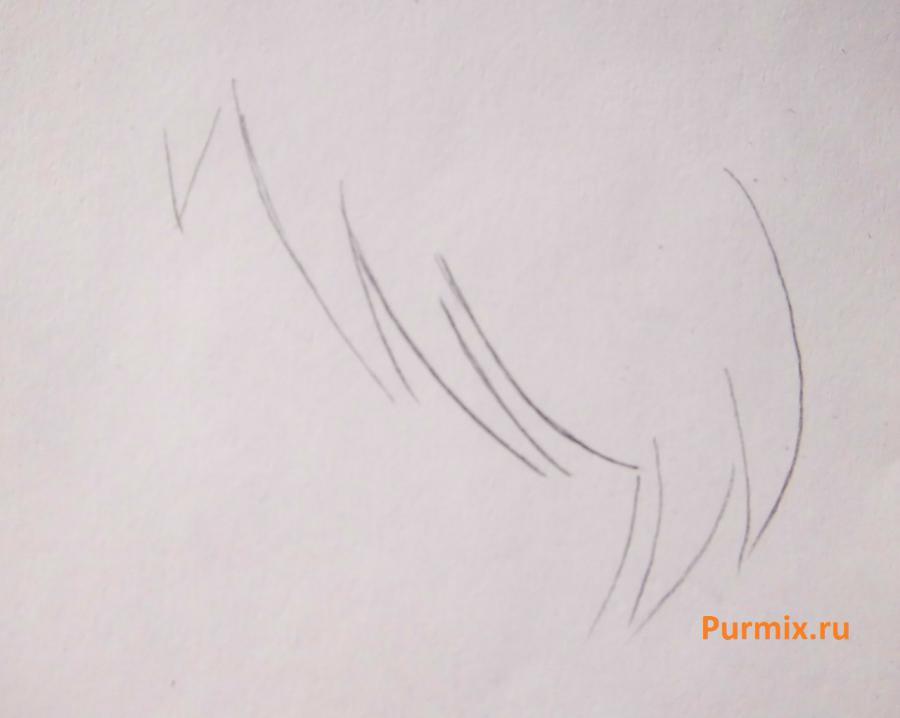 Рисуем стесняшку неко простым - шаг 4