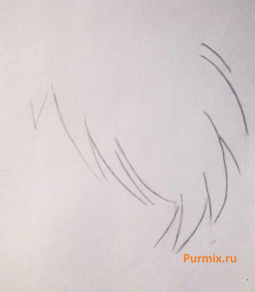 Рисуем стесняшку неко простым - шаг 5