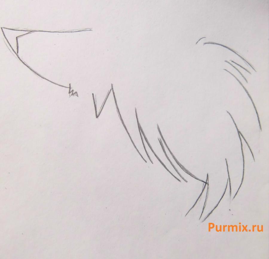 Рисуем стесняшку неко простым - шаг 7