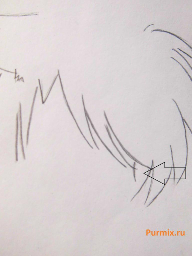 Рисуем стесняшку неко простым - шаг 9