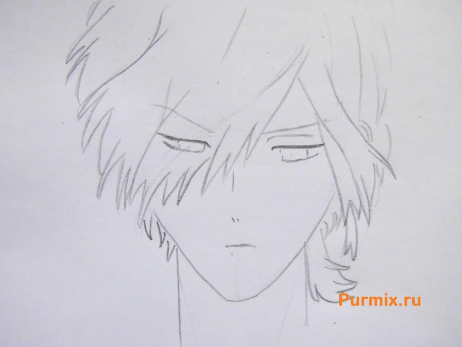 Рисуем Субару Сакамаки из аниме Дьявольские возлюбленные карандашами - шаг 3