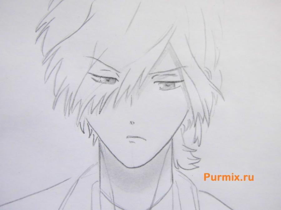 Рисуем Субару Сакамаки из аниме Дьявольские возлюбленные карандашами - шаг 5