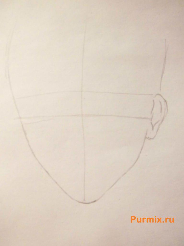 Рисуем Шу Сакамаки из аниме Дьявольские возлюбленные карандашами - шаг 1