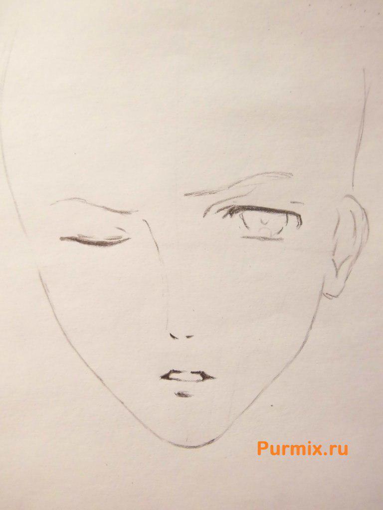 Рисуем Шу Сакамаки из аниме Дьявольские возлюбленные карандашами - шаг 2