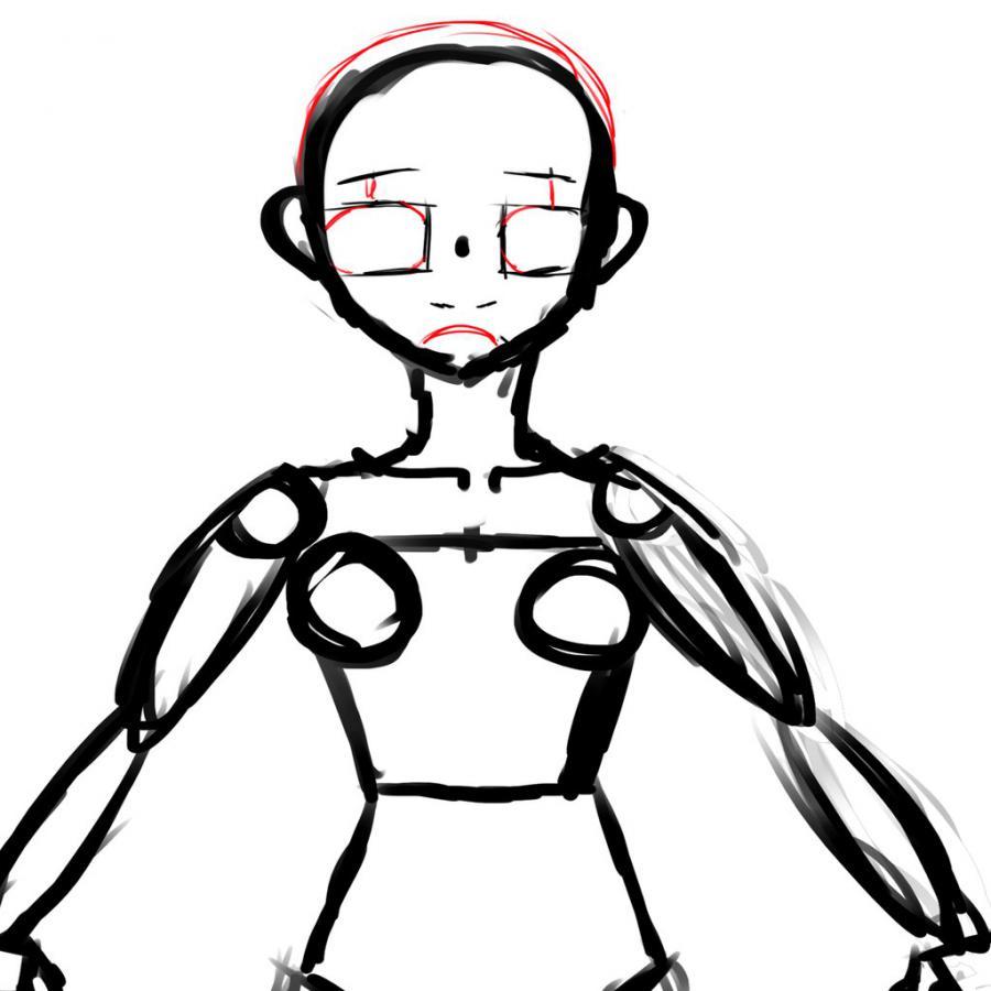 Рисуем тело школьницы в стиле аниме (подробный урок) - шаг 13