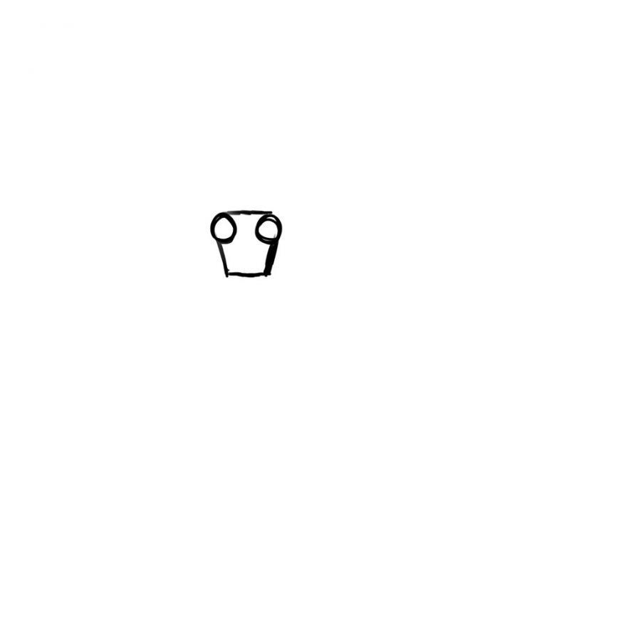 Рисуем тело школьницы в стиле аниме (подробный урок) - шаг 2