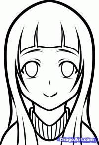 Юи из Sword Art Online карандашом