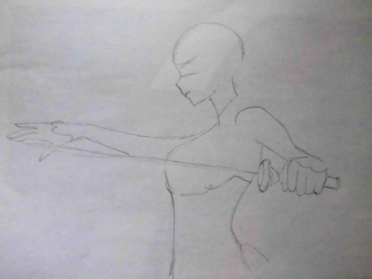 Учимся рисовать Юки Асуну из аниме Мастера меча онлайн карандашами - шаг 1