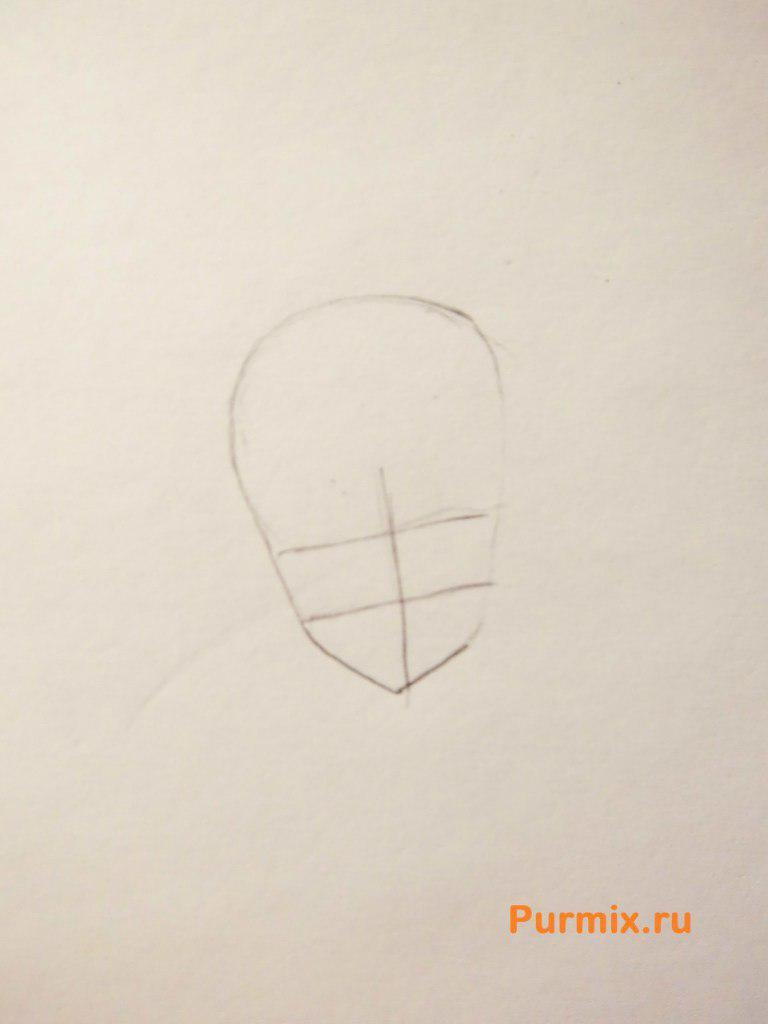 Рисуем Юки Асуну в полный рост - шаг 1